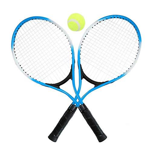 YYDM 1 Paar Kindertennisschläger Set - Tragbare Anfänger Rackets/Kinder Outdoor Sport Spielzeug (Blau) / Vielseitigkeit Stabilität, Für Stadion Und Im Freien