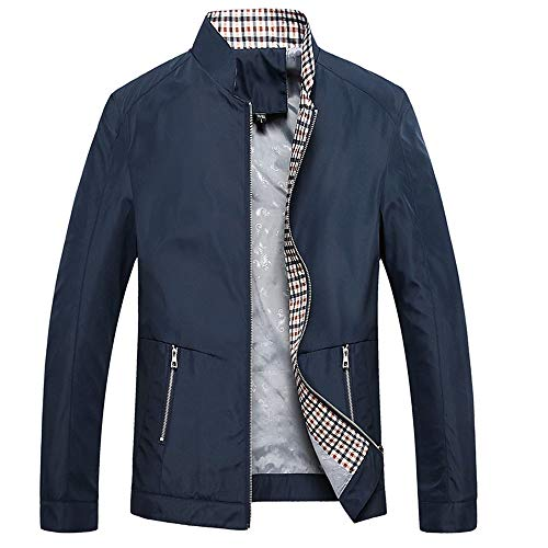 YOUTHUP Chaqueta Bomber Para Hombres Casual Slim Fit Zip Trench Chaquetas Lightweight Outwear Windbreaker