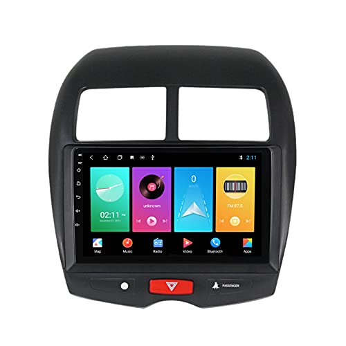 ADMLZQQ para Mitsubishi ASX 2010-2016 Android 10.0 Radio Coche Car Stereo Car MP5 Player 9 Pulgadas Pantalla Táctil Carplay FM Am Bluetooth DSP Cámara Trasera Control del Volante,M100s 4core 1+16g