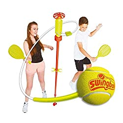 Bring the classic game, Turbo Swingball to your garden! Simply hit the tennis ball back and forth along the spiral and see which player can make it to their base first! It's a perfect ball game where you no longer have to worry about the ball going m...