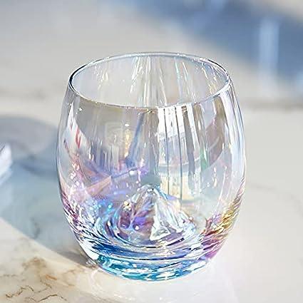 Wendao Página de inicio Copa de cristal Rainbow Tear Glass Sin plomo Siete colores copas de vino Copa Bar