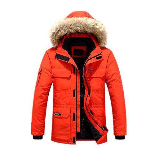 Invierno espesar chaqueta de algodón ropa larga con capucha extraíble collar tendencia Abrigos hombres abajo Parkas