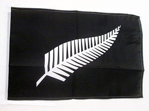 AZ FLAG Flagge NEUSEELAND All Black 45x30cm mit Kordel - NEUSEELÄNDISCHE Fahne 30 x 45 cm - flaggen Top Qualität