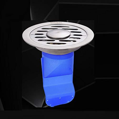 GOLDEN MANGO 304 Baño de Acero Inoxidable Desodorante Fondo Drenaje Redondo Lavadora Suelo Drenaje Desodorante Silicona Núcleo,Upgrade