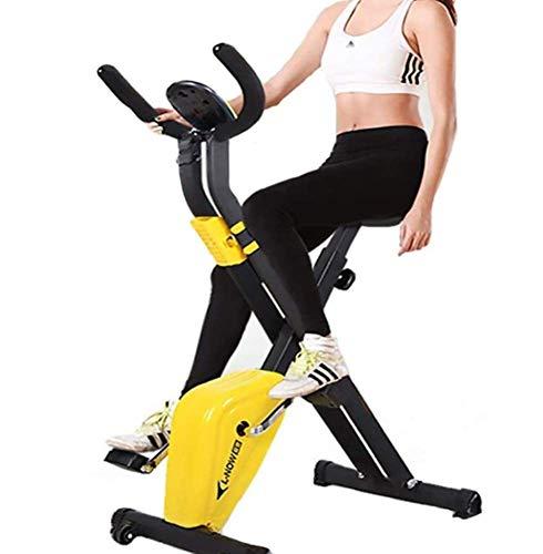Phil Beauty Bicicletas Estáticas Home Fitness Equipment Pedales Cubierta Peso del Ejercicio Plegable Ultra Silencioso Pantalla LCD Apto para Hombres y Mujeres