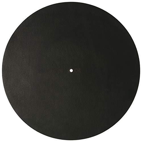 Sonicvoice Plattenteller Auflage aus hochwertigstem schwarzen, anilin gefärbten Echtleder. Für ein besonders feines, klares Klangerlebnis