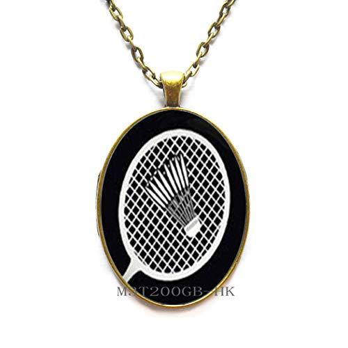 Badminton-Halskette, Badminton-Geschenk, Badminton-Schmuck, Badminton-Spieler, Badminton-Fan, Sport-MT374