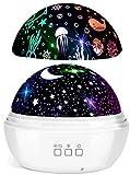 Proiettore Stelle Soffitto, FISHOAKY proiettore galassia 8 Colori, Proiettore Cielo Stellato Bambini, 360° Rotazione Led Proiettore, Lampada Proiettore Per Neonati, Compleanno, Regalo