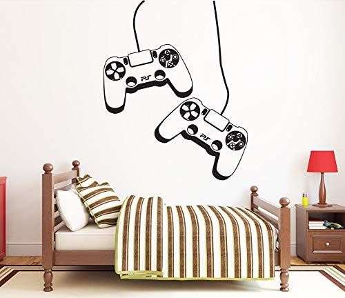 Gamer Wandtattoo Videospiele Wandaufkleber PlayStation PS4 Controller Wandtattoo Spielzimmer Wandkunst 1732re