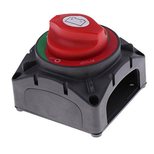 IPOTCH Interruptor de Encendido/Apagado de La Perilla Marina Del Coche 600A Aislador 12-48V DC de La Desconexión de La Batería
