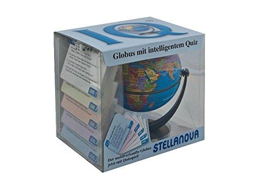 10 cm IQ-Quiz Spiele Dreh-Schwenk-Globus: politisches Kartenbild, mit Fragen zu Ländern