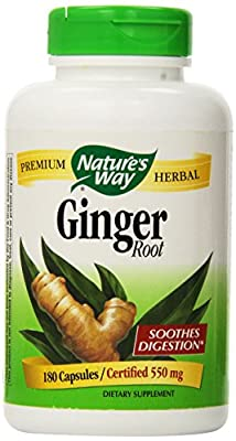 Nature's Way Ginger Root 500 mg, Capsules 180ea