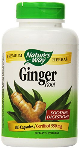 Nature's Way Value Size Ginger Root 180 Capsules