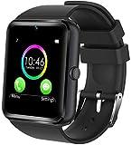 generisch 2019 PromoTech GT08 Sport Smartwatch mit Bluetooth 3.0 + 1.54 inch Touchscreen + Kamera + GSM/GPRS SIM-Karte. Für Android und iOS (Schwarz)