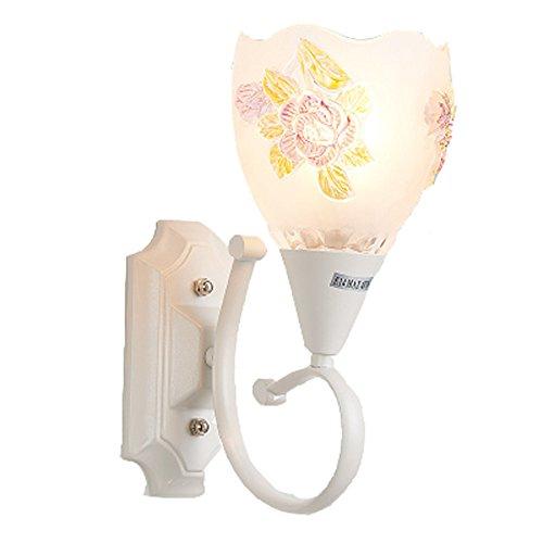 YU-K Chambre minimaliste lampe de chevet lampe murale salon élégant mur lampadaires dans l'étude du corridor routier applique murale lampe murale à LED blanc cristal de fer