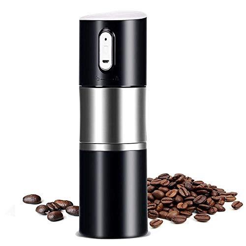 SCZZ Instant-Kaffeemaschine, Maschine Portable Edelstahl-Schwarz-Minikaffeekapsel, Haushalt Outdoor-USB-Elektrisch Travel Kaffeemaschine 500Ml