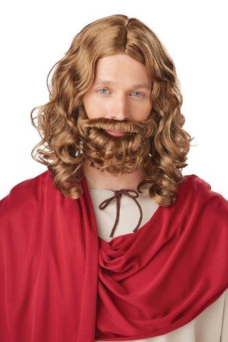 Unbekannt Générique pe879–Perücke und Schnurrbart Jesus–Einheitsgröße