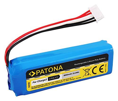 PATONA - Batería de repuesto para JBL GSP1029102A (6000 mAh, compatible con JBL Charge 3)