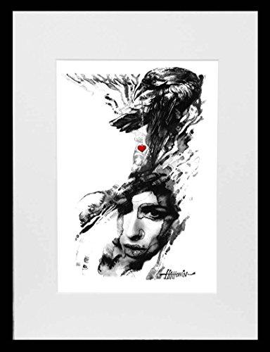 Amy Winehouse – Hidden Treasures – Limited Edition Aquarell von Hahonin