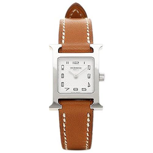 [エルメス]腕時計 HERMES HH1.110.131/VBA W037961WW00 Hウォッチ ミニ ブラウン レディース ホワイト シルバー [並行輸入品]