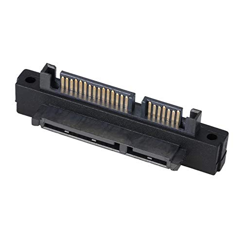 ArgoBa ni 90 Grados de ángulo SATA 22Pin (7 + 15) Macho a 22Pin (7 + 15) Adaptador de extensión Hembra para Adaptador de extensión de Puerto de Disco Duro