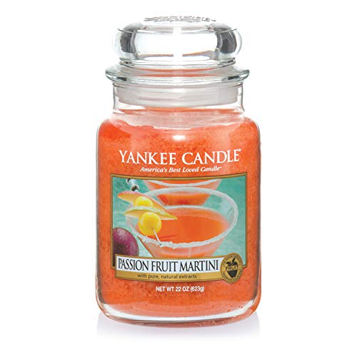 Yankee Candle Candela Profumata in Giara Grande, Martini al Frutto della Passione, Durata Fino a 150 Ore