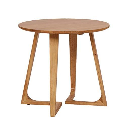 N/Z Wohngeräte Beistelltisch Kleiner Beistelltisch Couchtisch Flurmöbel Dekorativer Holztisch für Wohnzimmer Schlafzimmer Innen-Snack-Tisch Runder Beistelltisch (Farbe: Natürliche Größe: 60X60X55cm)