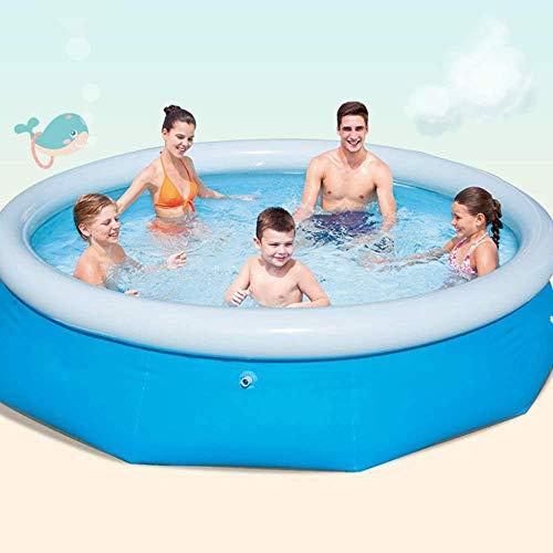 HUAQINEI Pool aufblasbar Leicht zu verstauen Faltbar Gebraucht Gartenhaus Kinder Erwachsene können aufblasbar Pool-305 * 76cm