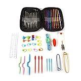 Omabeta Agujas de tejer de aluminio Herramientas Set Crochet Ganchos Set Crochet Gancho para Adultos Principiantes