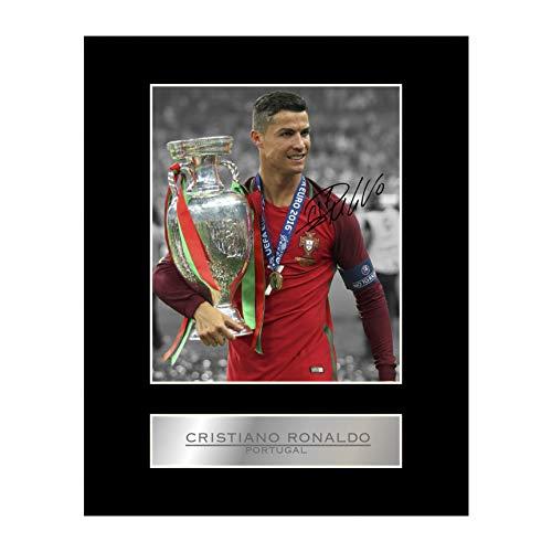 Cristiano Ronaldo gesigneerd gemonteerd foto Display Portugal #1