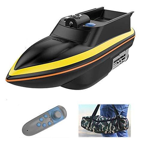 ASMART Ferngesteuertes Boot, Angelboot, 200 m, Fernbedienung, 0,5 kg, Fischfinder mit Doppelmotor-Angelboot, Zubehör für Herren, Angeln SPE (Farbe: schwarz)