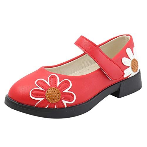 Cuteelf Kleinkind Schuhe Kinderschuhe Mädchen einzelne Schuhe Schuhe MädchenPrinzessin Schuhe Kleinkind Kinder Kinder Baby Mädchen Leder Blumen Single Princess Schuhe Sandalen
