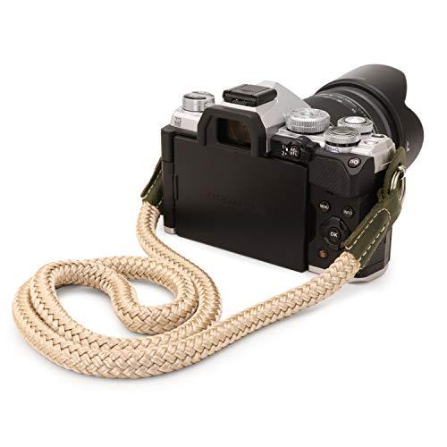 MegaGear SLR, Correa de algodón para cámara réflex Digital (tamaño Grande) - Verde Caqui