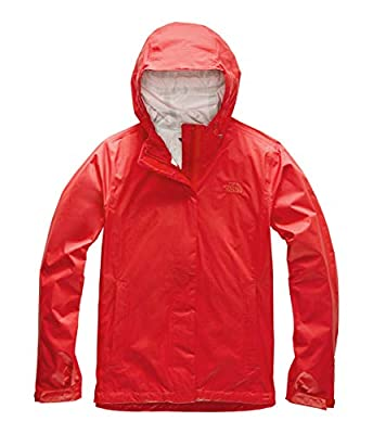 The North Face Women's Venture 2 Waterproof Hooded Rain Jacket, Fiery Red, XL from The North Face
