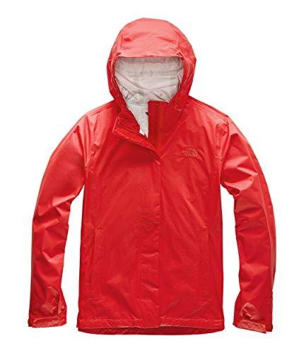 The North Face Womens Venture 2 Waterproof Hooded Rain Jacket, Fiery Red, XL