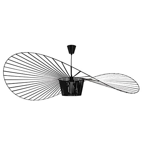 Lustre Salon Moderne Vertigo Suspensions Retro, Simple Creative Fibre De Verre+PolyuréThane De Chapeau Design Moderne Salon Cuisine Salle De Bain ÉClairage DéCoratif, E27 Max 40W (noir, 100CM)