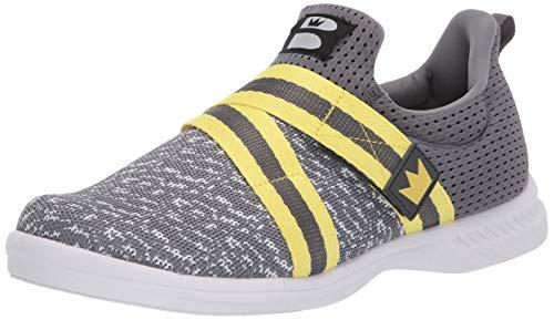 Brunswick Bowling-Schuhe für Herren, Grau/Gelb, Größe 40