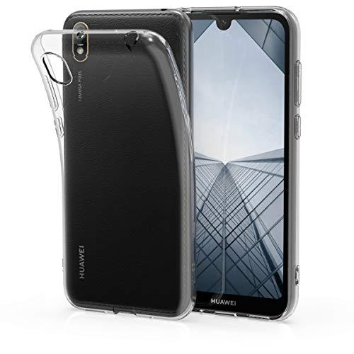 kwmobile Funda Compatible con Huawei Y5 (2019) - Carcasa de TPU para móvil - Cover Trasero en Transparente