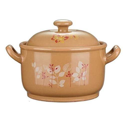 JJLL Eco Herd Keramik Eintopf Hot Pot Tontöpfe mit Farbdeckel Suppentopf Kochgeschirr (Size : 5.3L)