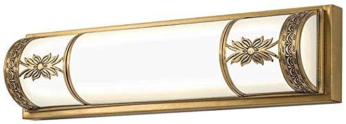 Led koper waterdicht anti-condens spiegel koplamp spiegel kast badkamer muur eenvoudige nacht make-up spiegel lamp warm licht rollsnownow (grootte: 64 cm 28 watt)
