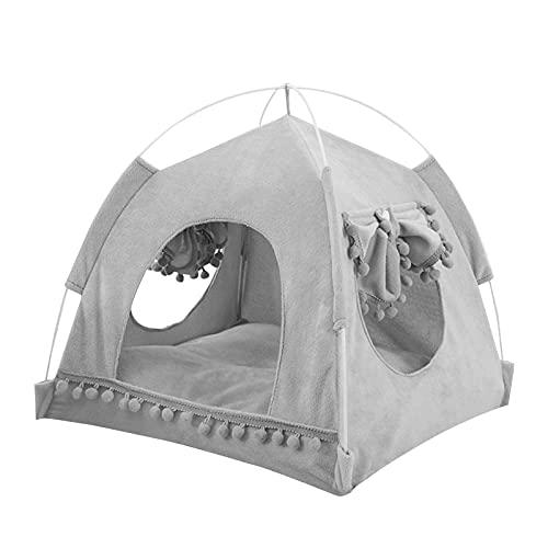 Tienda de campaña para gatos, cama tipo cueva, cama tipi para mascotas con dosel, tienda de campaña portátil plegable y duradera para mascotas, para perros y gatos, mascotas pequeñas y medianas