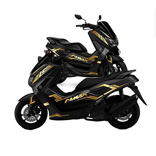Motocicleta MAX 155 Pegatina de Cuerpo Completo Resistente al rasguño Protector Impermeable Calcomanías Ajuste para Yamaha Nmax N-MAX 155 Pegatinas para Moto