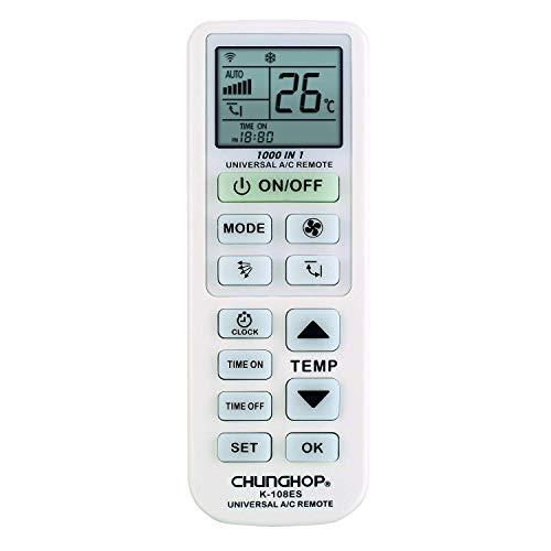 CHUNGHOP K 108ES, Mando a Distancia para Aire Acondicionado, Blanco