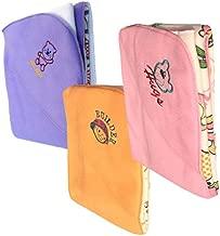 My Newborn Double Layer Fleece Reversible Baby Blanket, Pink/Purple/Beige (Pack of 3)