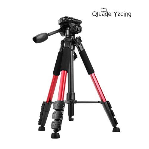 QILade Yzcing Professionelles tragbares Klapp-Spiegelreflexkamera-Stativ mit 3-Wege-Schwenkkopf und Telefonhalterung für DSLR-Kameras mit Projektor-Smartphones