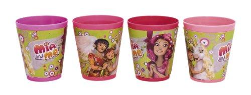 Joy Toy 118144 - Mia and Me Trinkbecher, Plastik, 4 Stück, 230 ml, 8 x 9 cm