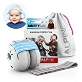 Alpine Muffy Baby Ear Protection for Newborn and Babies up to 36 Months – Noise Reduction Earmuffs for Toddlers and Children – Comfortable Infant Ear Muffs Prevent Hearing Damage & Improve Sleep, Blue