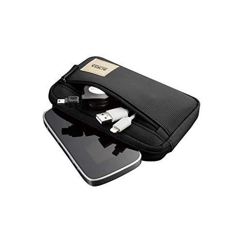 エレコム ポーチ バッグインバッグ アクセサリ/ガジェット収納 スリムタイプ Sサイズ ブラック BMA-GP01BK