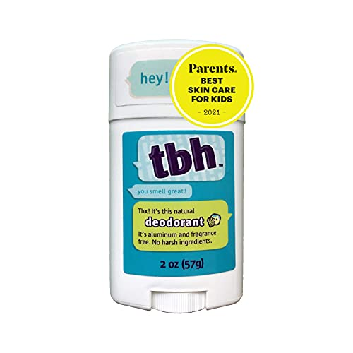 TBH Kids Deodorant – Unscented Deodorant for Kids – Made w/ Natural Ingredients in the USA – Aluminum Free Deodorant – Kids Deodorant Girls and Boys