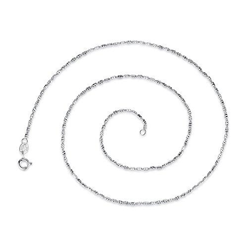 VIKI LYNN 925 Sterling Silber Geometrische Röhren Kabel Kette 45 cm